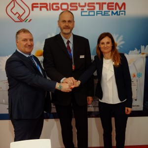 Alessandro Grassi, general manager of Frigosystem, Franz Decker, general manager of the German office and Miriam Olivi, general manager of Go Trade