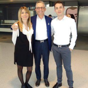 Giacomo Scanzi, Amministratore Delegato di Arcoplex, con i figli Giulia e Carlo