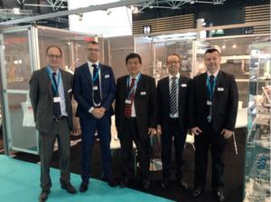 Star Automation In seconda e terza posizione da sinistra, l'Ing. Niero, nuovo Sales Manager, e Shoji Ishibashi, nuovo MD