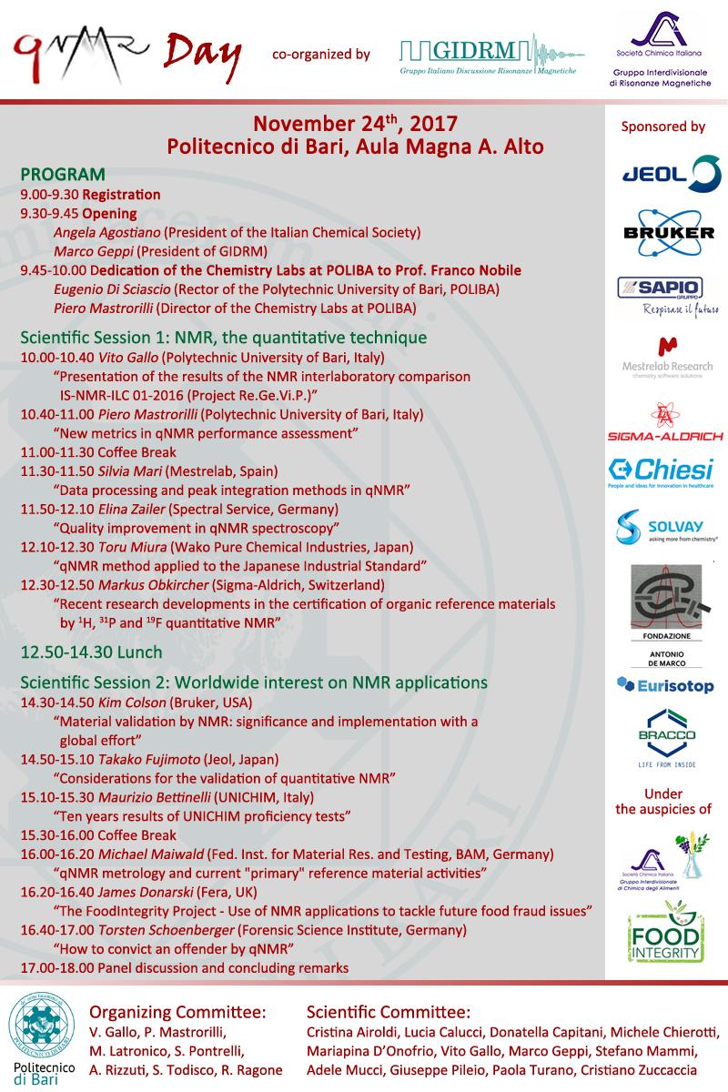 Locandina qNMR Day - Programma