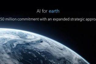Microsoft 'amplifica' il programma di  AI (Artificial Intelligence) for Earth