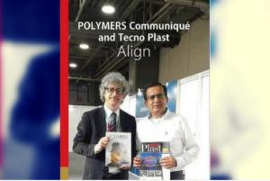 l'editore di Tecnoplast, Marco Mastrosanti, con Manish Chawla, Publisher di POLYMERS Communiqué