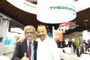 Marco Mastrosanti di Tecnoedizioni con Davide Albertazzi di Thermoplay