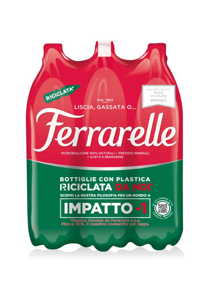 Ferrarelle, la bottiglia riciclata in R-PET 50% arriva nella GDO