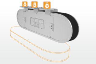 B&R introduce la variante a montaggio verticale del sistema di trasporto industriale SuperTrak