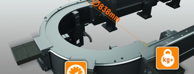 B&R introduce un nuovo segmento curvo per il sistema di movimentazione SuperTrak